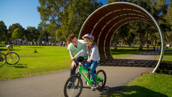 Children's Learner's Cycleway at Centennial Parklands