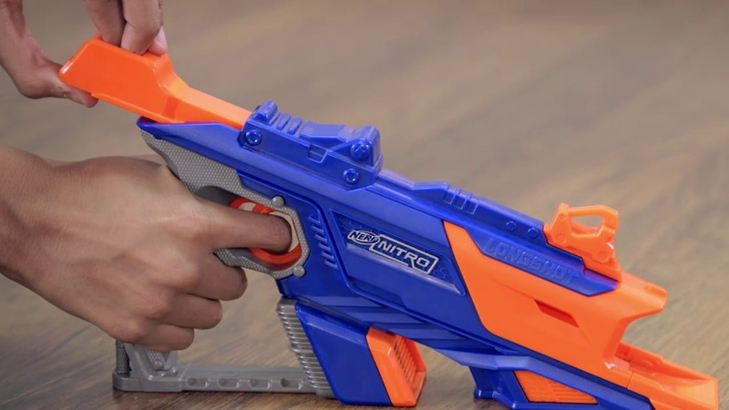 NERF guns are cool and we all wish we could have the latest one. But their  new line of car-shooting guns is even cooler. The Nerf Nitro LongShot Smash  ...