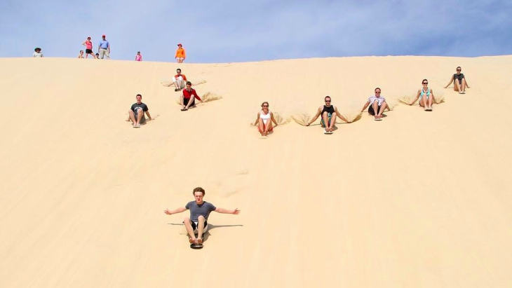 Sandboarding port stephens kids