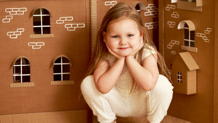 Make your own cardboard dollhouse