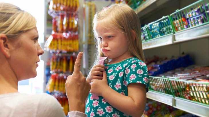 Parents argue kids sweets